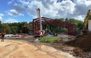 Sandwell UK steelwork of new factory